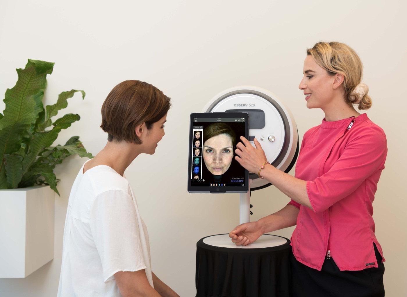 Buche unsere Hautanalyse mit unserem Observ 520 Ais System